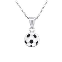 Lasten hopeinen kaulakoru, Football -jalkapallokaulakoru