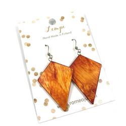 LEMPI-korvakorut, Timantti (oranssi visakoivu)
