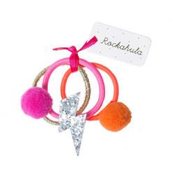 Hiuskoru/pompula, Rockahula KIDS|Lightning Flash Ponies Pink