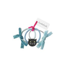 Hiuskoru/pompula, Rockahula KIDS Cat Glitter Ponies Black