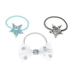 Hiuskoru/pompula, Rockahula KIDS|Sequin Shaker Bow Ponies Silver