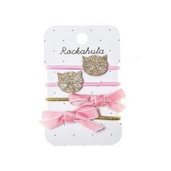 Hiuskoru/pompula, Rockahula KIDS|Sparkly Cat Ponies Gold