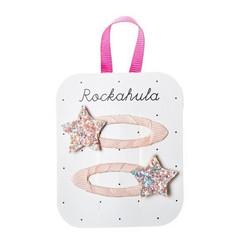 Hiuskoru/pinni, Rockahula KIDS|Star Glitter Clips Peach
