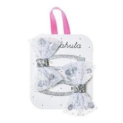 Hiuskoru/pinni, Rockahula KIDS|Sequin Shaker Bow Clip Silver