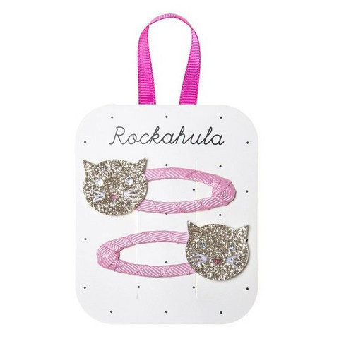 Hiuskoru/pinni, Rockahula KIDS|Sparkly Cat Clips Gold