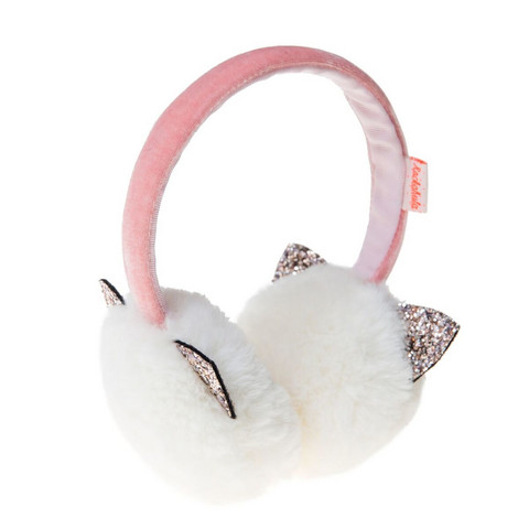 Korvaläpät, Rockahula KIDS|Fluffy Earmuffs Cat Ears White