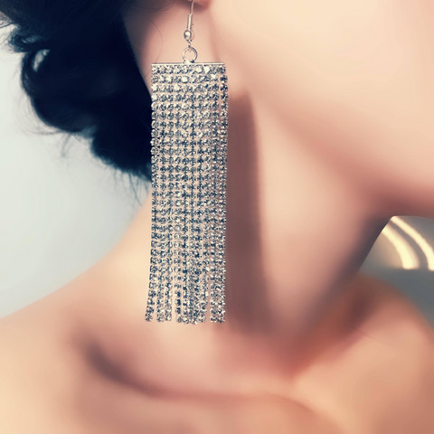 Strassikorvakorut, Long Simple Strass Earring