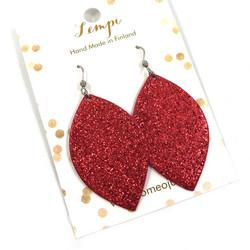 LEMPI-korvakorut,  Iisa (punainen glitter)
