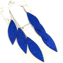 LEMPI-korvakorut, Laura (sininen glitter,  kolmiosainen)