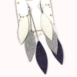 LEMPI-korvakorut, Laura (valkoinen, hopea, tähtitaivas)