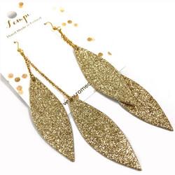 LEMPI-korvakorut, Laura (kulta glitter, kaksiosainen)