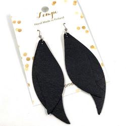 LEMPI-korvakorut, Mini Tulppaani (musta)