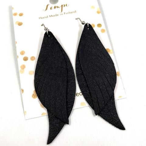 LEMPI-korvakorut, Mini Siivet (musta)