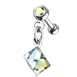 Rustokoru/traguskoru, Square Crystal Dangle
