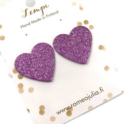 LEMPI-korvanapit, Lempi (laventeli glitter)