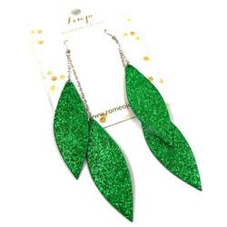 LEMPI-korvakorut, Laura (vihreä glitter, kaksiosainen)