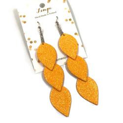 LEMPI-korvakorut, Lehdet (aprikoosi glitter)
