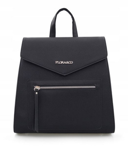 Reppu, Flora & Co|Black Womans Rucksack (musta pikkureppu)