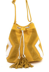 Laukku,/MOGANO|Yellow Handbag with Tassels
