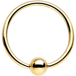 Lävistysrengas  TITANIUM GOLDLINE PREMIUM (5MM ball)