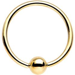 Lävistysrengas BCR TITANIUM GOLDLINE PREMIUM (4mm Ball)