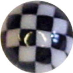 Lävistyskorun irtopallo, Chessball in Black 1,6mm/useita eri halkaisijoita