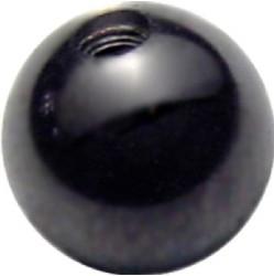 Lävistyskorun irtopallo, Black Acryl 1,6mm/useita eri kokoja