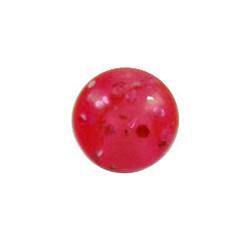 Lävistyskorun irtopallo, Red Glitter 1,6mm/useita eri kokoja