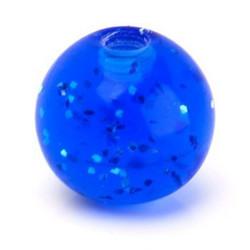 Lävistyskorun irtopallo, Dark Blue Glitter 1,6mm/6mm