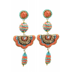 Korvakorut/ATOLL-PALME, Bohemian Beaded Earrings