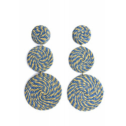 Korvakorut/ATOLL-PALME, Raffia Earrings in Blue