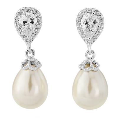 Kristallikorvakorut, ATHENA BRIDAL JEWELLERY Precious Pearl