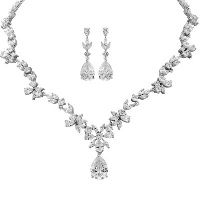 Kristallikorusetti, ATHENA BRIDAL JEWELLERY|Cubic Zirconia Teardrop