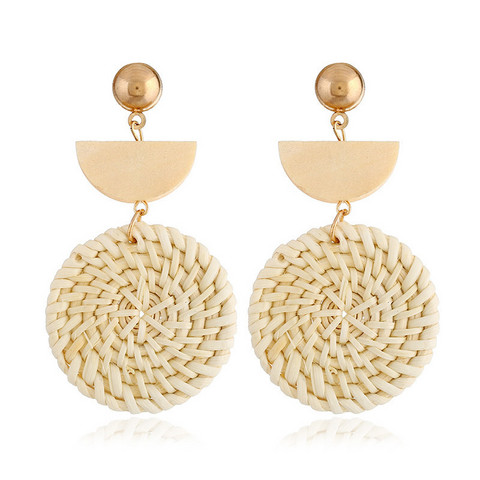 Rottinkikorvakorut, Light Natural Rattan Earrings