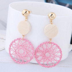 Korvakorut, Round Retro Earrings in Pink