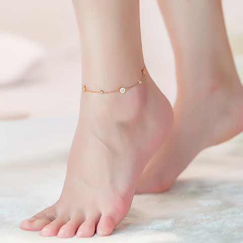 Nilkkakoru|HOLIDAY COLLECTION/Classic Rosegold Anklet with Roman Numerals