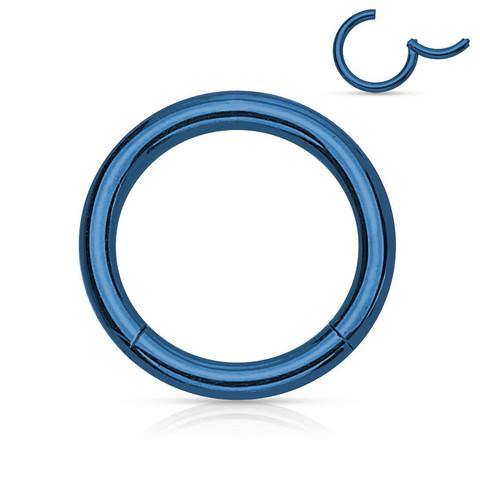 Lävistysrengas, Hinged Segment Ring in Blue 1,2mm/useita kokoja