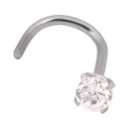 Nenäkoru, nenänappi Steel Crystal  (1mm/2,5mm)