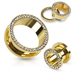Tunneli 5mm, Multi Gemmed Gold