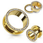 Tunneli 10mm, Multi Gemmed Gold