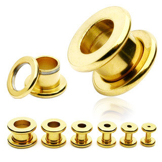 Tunneli 5mm, Basic Gold