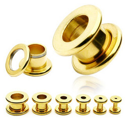 Tunneli 12mm, Basic Gold