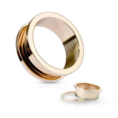 Tunneli 12mm, Basic Rosegold