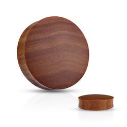 Plugi 12mm, Organic Saba Wood  (puinen plugi)