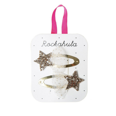 Hiuskoru/pinni, Rockahula KIDS|Shooting Star Glitter Clips Gold