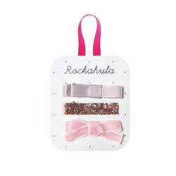 Hiuskoru/pinni, Rockahula KIDS|Sparkle Bar Clips Pink