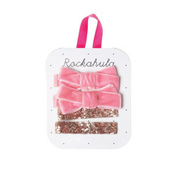 Hiuskoru/pinni, Rockahula KIDS|Velvet and Glitter Clips Gold