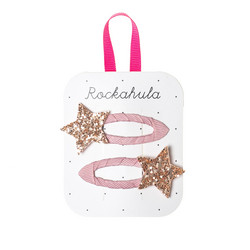 Hiuskoru/pinni, Rockahula KIDS|Bedazzle Glitter Star Clips Pink