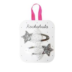Hiuskoru/pinni, Rockahula KIDS|Shooting Star Glitter Clips Silver