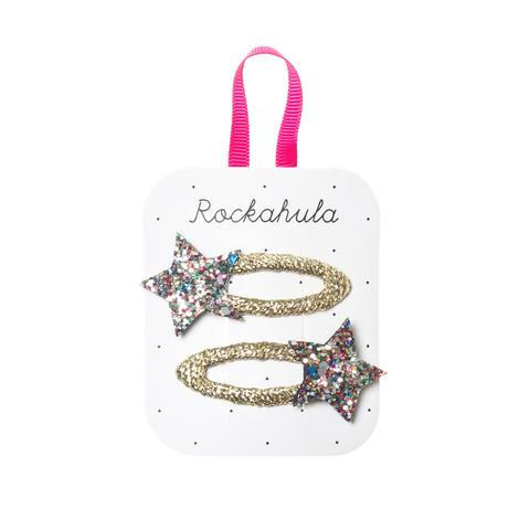 Hiuskoru/pinni, Rockahula KIDS|Bedazzle Glitter Star Clips Multi